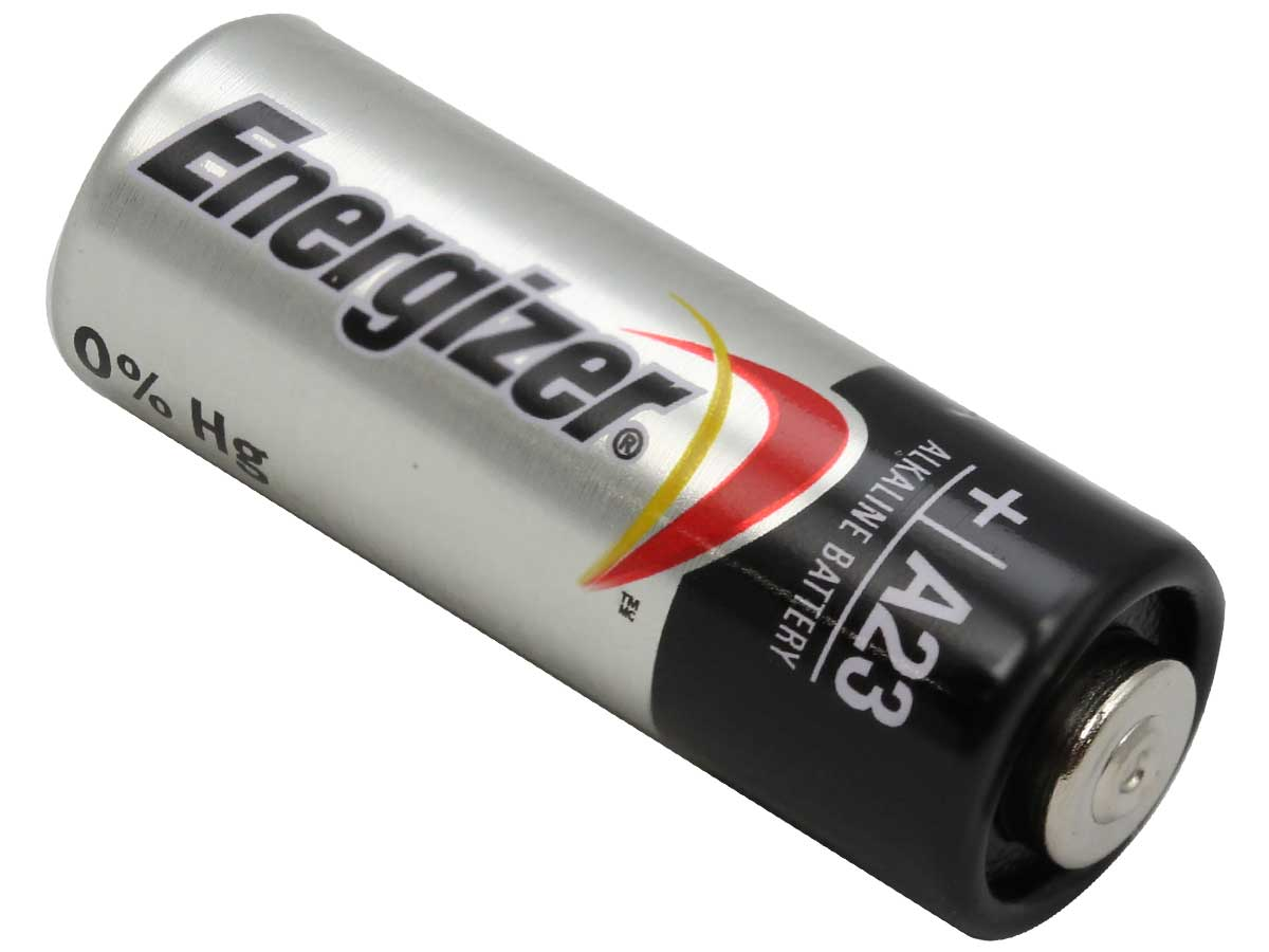 Energizer A23 battery right side angle