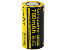 Nitecore NL18350A IMR 18350 700mAh 3.7V Unprotected High-Drain 7A Lithium Manganese (LiMn2O4) Flat Top Battery - Boxed