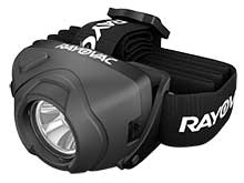 Rayovac DIYPHL3AAA-BTA Virtually Indestructible Workhorse Pro LED Headlamp - 180 Lumens - Includes 3 x AAA Alkaline Batteries