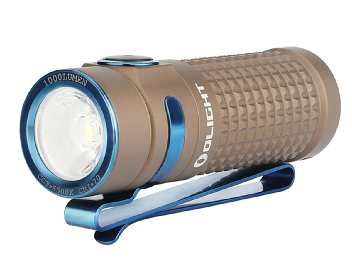 Olight S1R II LED Flashlight rear view