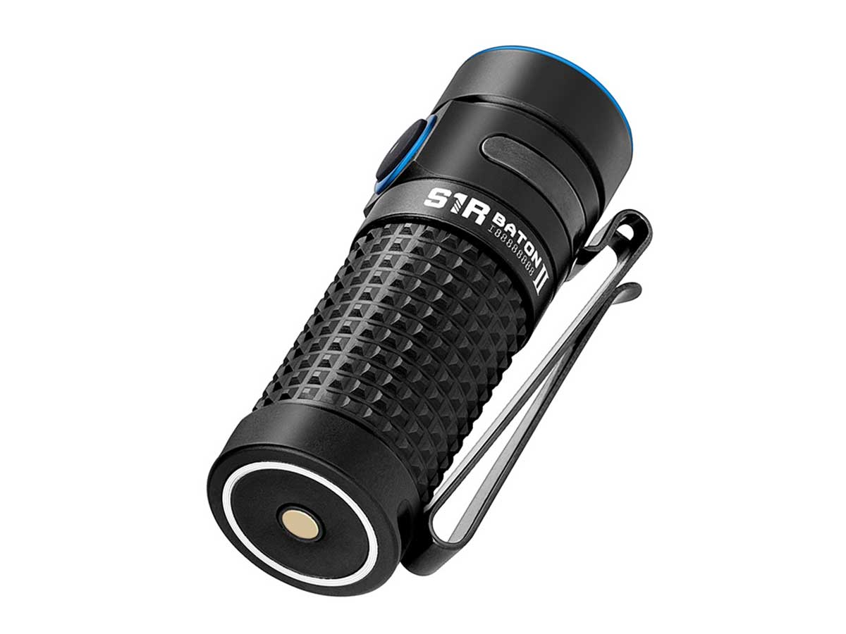 Olight S1R II LED Flashlight in hand