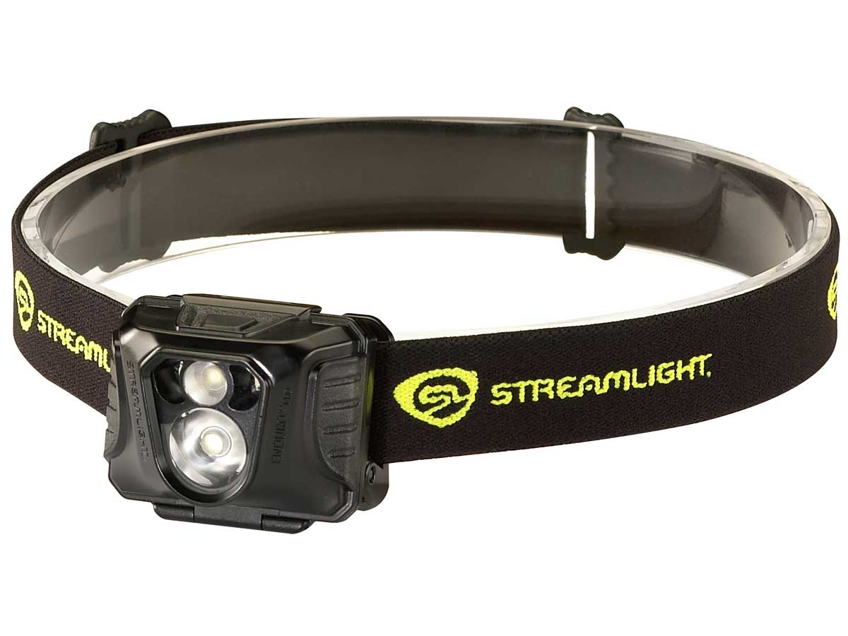 Headlamp with a helmet strap