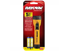 Rayovac Industrial Krypton Flashlight with Ring Hanger - Incandescent Bulb - 10 Lumen - Includes 2 x AAs (I2AA-B)