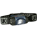 Underwater Kinetics 3AAA eLED Vizion I Headlamp with Woven Strap - 65 Lumens - Class I Div 1 - Uses 3 x AAAs - Black, Blue, or Safety Yellow