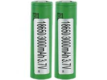 BUNDLE: 2 x Sony VTC6 IMR 18650 3000mAh 3.6V Unprotected High-Drain 30A Lithium Manganese (LiMn2O4) Flat Top Batteries