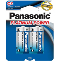 Panasonic Platinum Power LR14XP-2B C-cell 1.5V Alkaline Button Top Batteries - 2-Pack Retail Card
