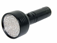 Golden Gadgets 68 UV LED Flashlight - Runs on 4 x AAA Batteries - Black or Silver
