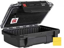 Underwater Kinetics 206 UltraBox Equipment Case - 5.5 x 3.5 x 2 - Yellow or Black - Clear or Solid Lid