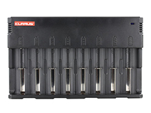 Klarus C8 Charger - 8 bay - For use with Li-ion, NiMH, NiCd Batteries