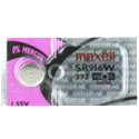 Maxell SR916W 372 23mAh 1.55V Silver Oxide Button Cell Battery - Hologram Packaging - 1 Piece Tear Strip, Sold Individually