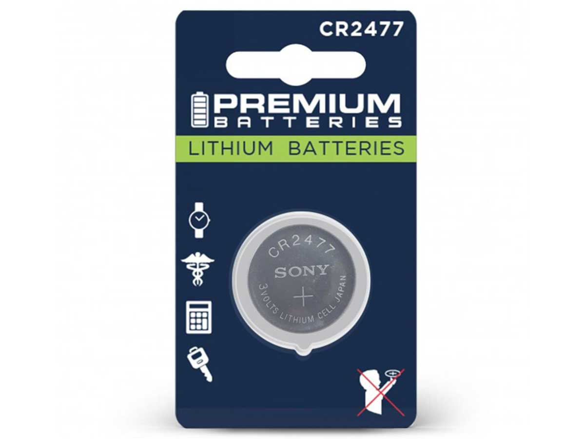 Sony CR2477 Lithium Coin Cell Battery