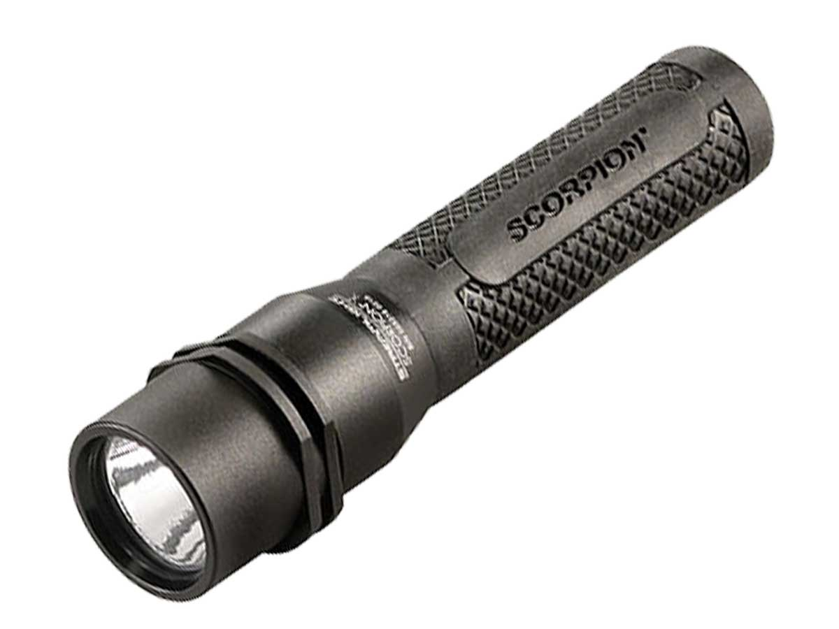 Black Scorpion X Tactical flashlight with extra rubber grip
