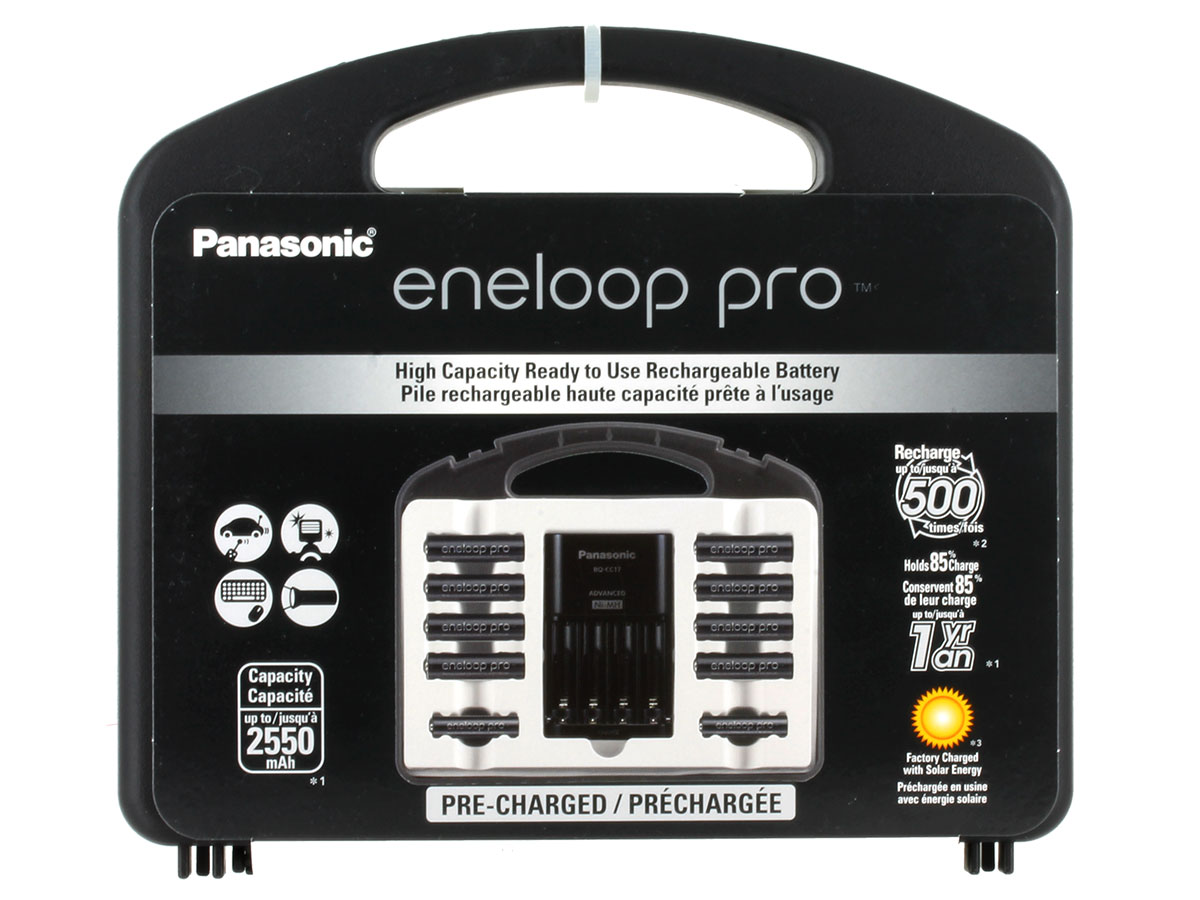 Front of Eneloop Pro Power Pack case packaging