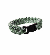 Ultimate Survival Technologies Survival Bracelet - 7-inch Wrist Band with Nylon Buckle - 8 Feet of Paracord - Green Camo (20-295B7-08)