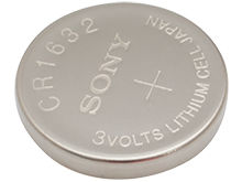 Sony CR1632 140mAh 3V Lithium (LiMnO2) Coin Cell Watch Battery - 1 Piece Tear Strip