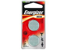 Energizer ECR2032-BP-2N 240mAh 3V Lithium Primary (LiMNO2) Coin Cell Batteries - 2 Pack Retail Card (Narrow)