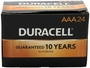 Box of 24 Duracell MN2400 AAA Batteries