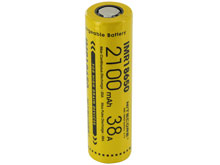 Nitecore IMR 18650 2100mAh 3.7V Unprotected High-Drain 38A Lithium Manganese (LiMn2O4) Flat Top Battery - Boxed