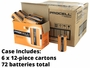 Case of 72 is Made Up of 6 Boxes of 12 Batteries