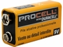 Duracel Procell 9V battery side angle