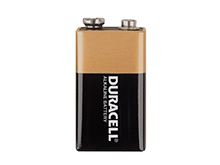 Duracell Coppertop MN1604 9V Alkaline Battery with Snap Connectors - Bulk
