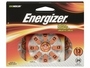 Energizer AZ13 Zinc Air Orange hearing aid batteries in 24 count blister pack