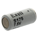 Exell S175 150mAh 7.5V Silver Oxide (Zn/Ag20) Microphone Battery