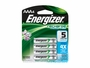 Energizer Recharge AAA batteries in 4-pack retail card