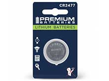 Sony CR2477 1000mAh 3V Lithium Primary (LiMnO2) Coin Cell Watch Battery - 1 Piece Retail Card
