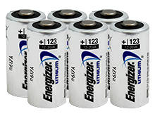 Energizer EL CR123A (6PK) 1500mAh 3V Lithium Primary (LiMNO2) Button Top Photo Batteries - Box of 6