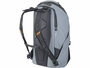 Side View of Gray Backpack