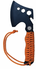 Ultimate Survival Technologies Para Hatchet with Paracord Grip - 8 Feet of Heavy Duty Cord - Nylon Sheath - Glo (20-890A369-15) or Orange (20-890A369-08)