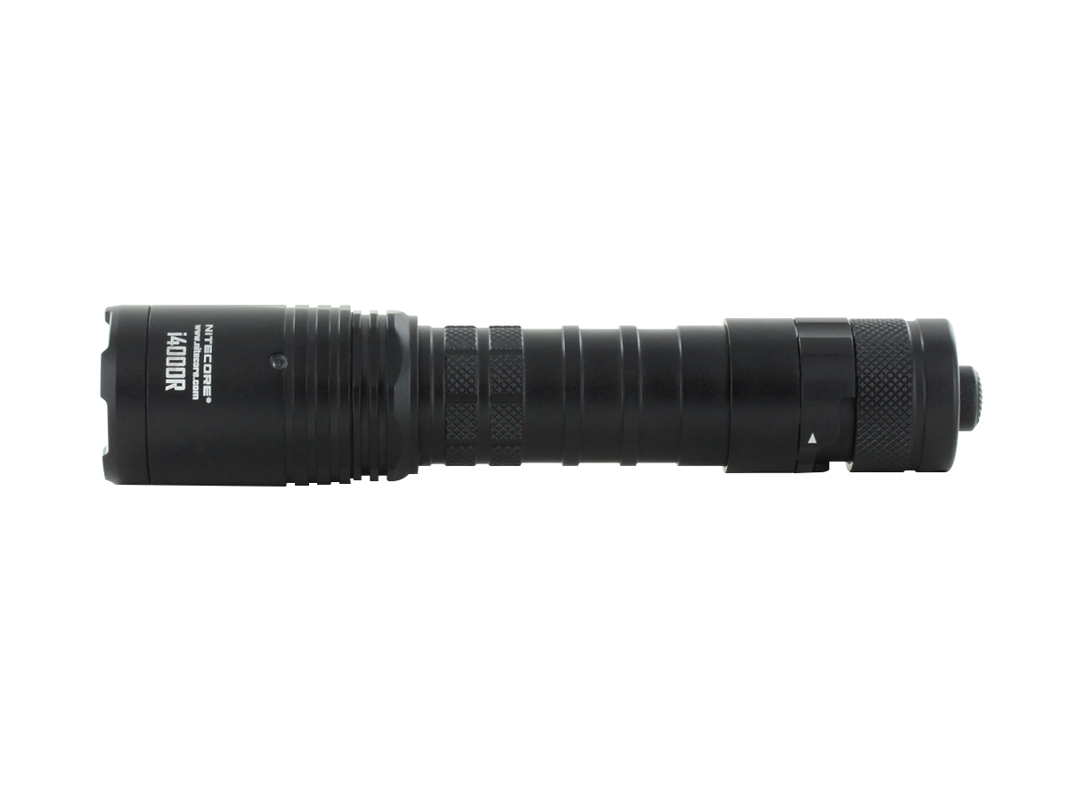 Nitecore i4000R Tactical Flashlight Dual Tailcap with STROBE Button