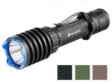 Olight Warrior X Pro Rechargeable Tactical LED Flashlight - Neutral White LED - 2250 Lumens - Includes 1 x 21700 - Black, Desert Tan or OD Green