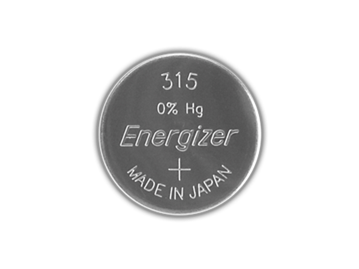 Energizer 315 coin cell front view