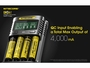 Nitecore UMS4 Charger manufacturer max output of 4000mA slide