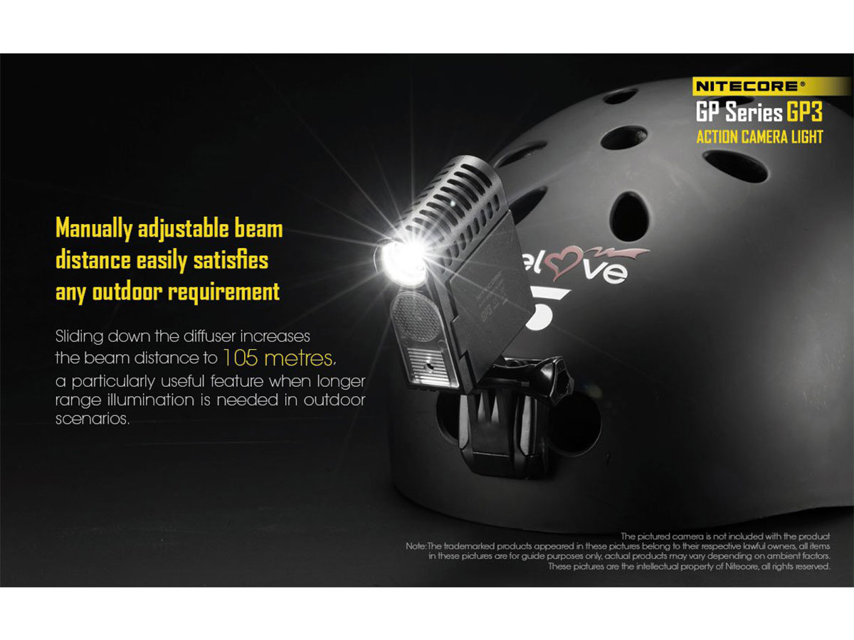 Nitecore GP3 Manually Adjustable Beam Distance