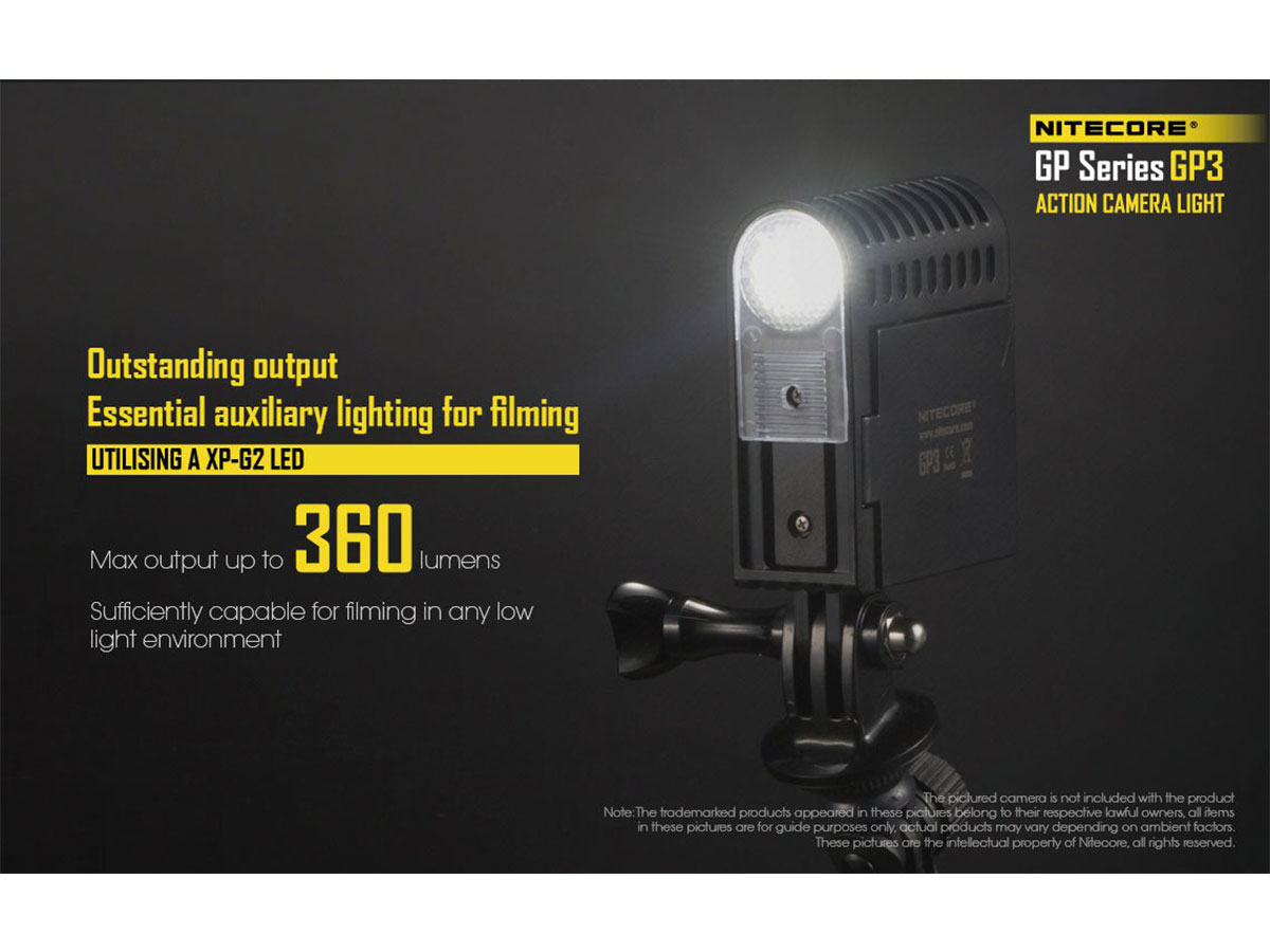 Nitecore GP3 360 Lumen Maximum Output