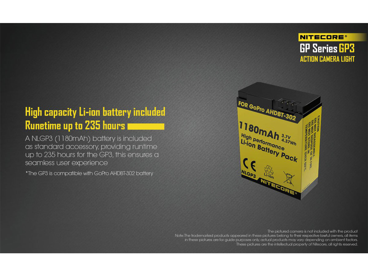 Nitecore GP3 High Capacity Li-ion Battery