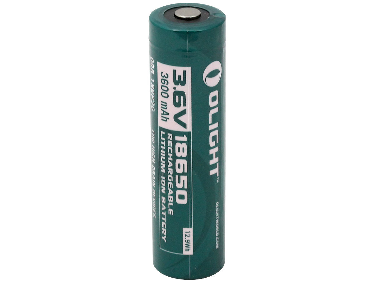 Standing Shot of the Olight ORB-186P36 18650 Lithium Ion Battery
