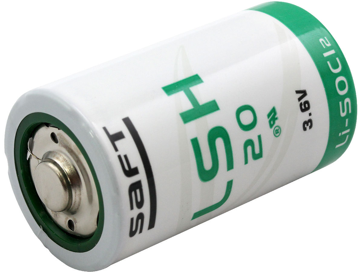 Angle Shot of the Saft LSH20 D Lithium Battery