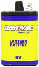 Rayovac 944C 5660mAh 6V Zinc Chloride (ZnCl) Heavy-Duty Lantern Battery with Spring Terminals - Shrink Pack