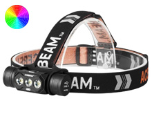 Acebeam H50 Rechargeable LED Headlamp - 2000 Lumens - Uses 1 x 18650