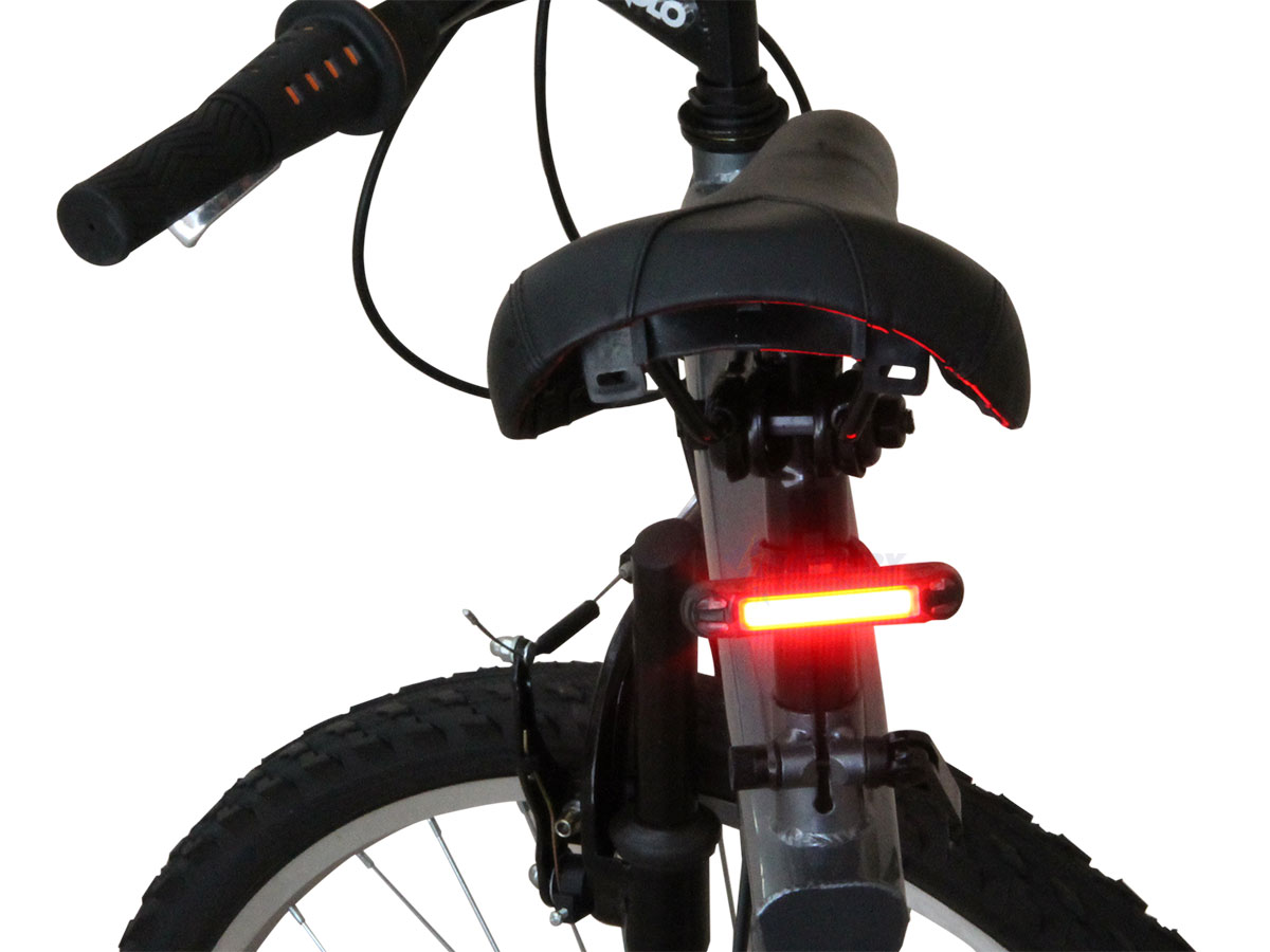 Klarus TL1 bike light attached to back of a bike