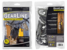 Nite Ize Gear Line Organization System - 4-Foot with 5 x #2 and 5 x #4 Plastic S-Biner Clips - Tactical (GLN4-M2-R8)