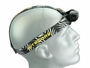 NITECORE HC65 on mannequin head, white background, facing the right to see how it fits on the head