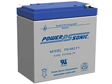 Power-Sonic PS-682F 9AH 6V Rechargeable Sealed Lead Acid (SLA) Battery - F1 Terminal