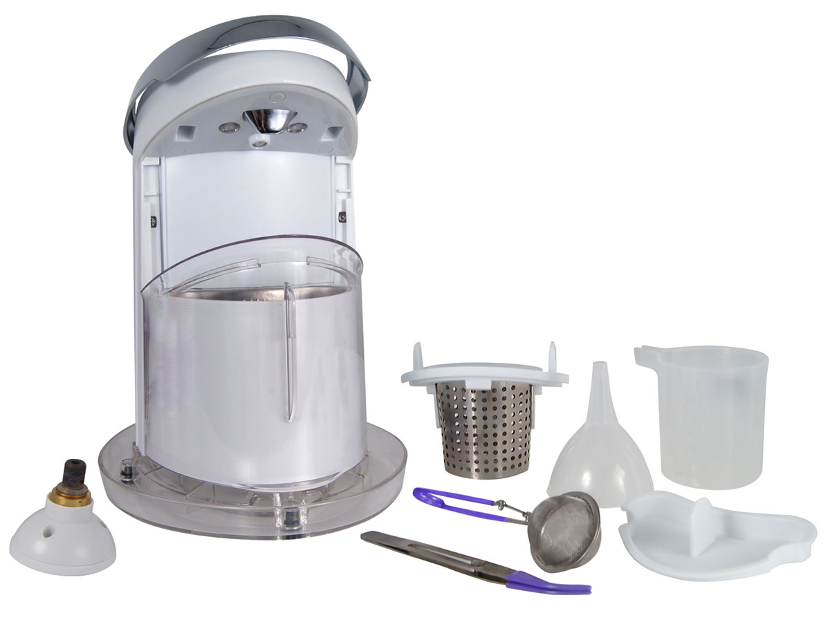 Jewelry Sauna Cleaning System with compartments out
