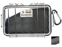 Pelican 1040 Watertight Case - Black - Available with Clear or Solid Cover