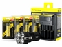 Nitecore TM26 flashlight with batteries and i4 charger